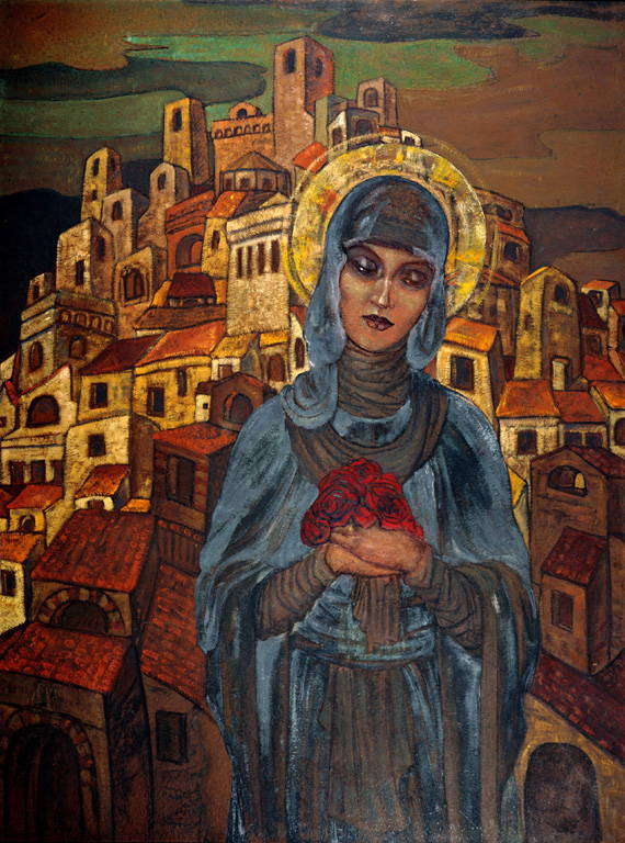 Roses of Heart, Princes Olga - painted by Nicolas Roerich.